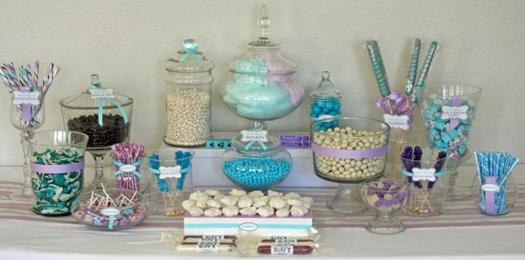 mesa dulces colores caramelos