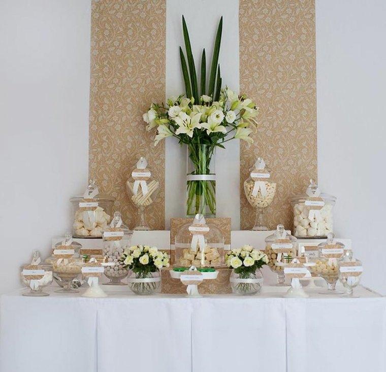 mesa bonita elegante dulces