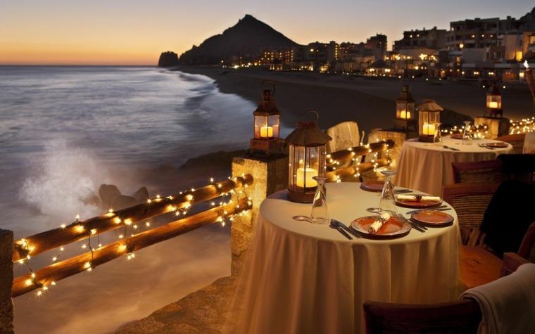 mesa romántica día enamorados