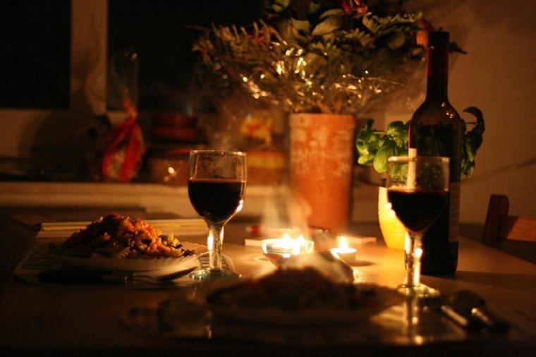 mesa romántica interior