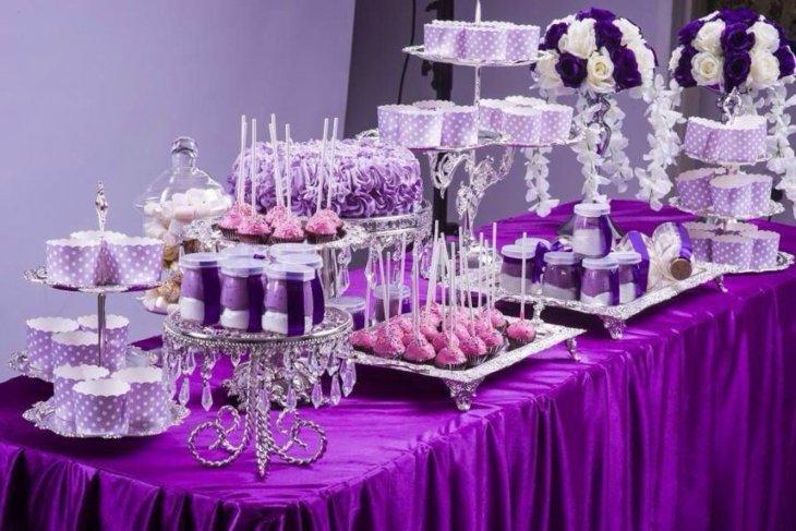 mesas de dulces para bodas cristales decorado imagenes