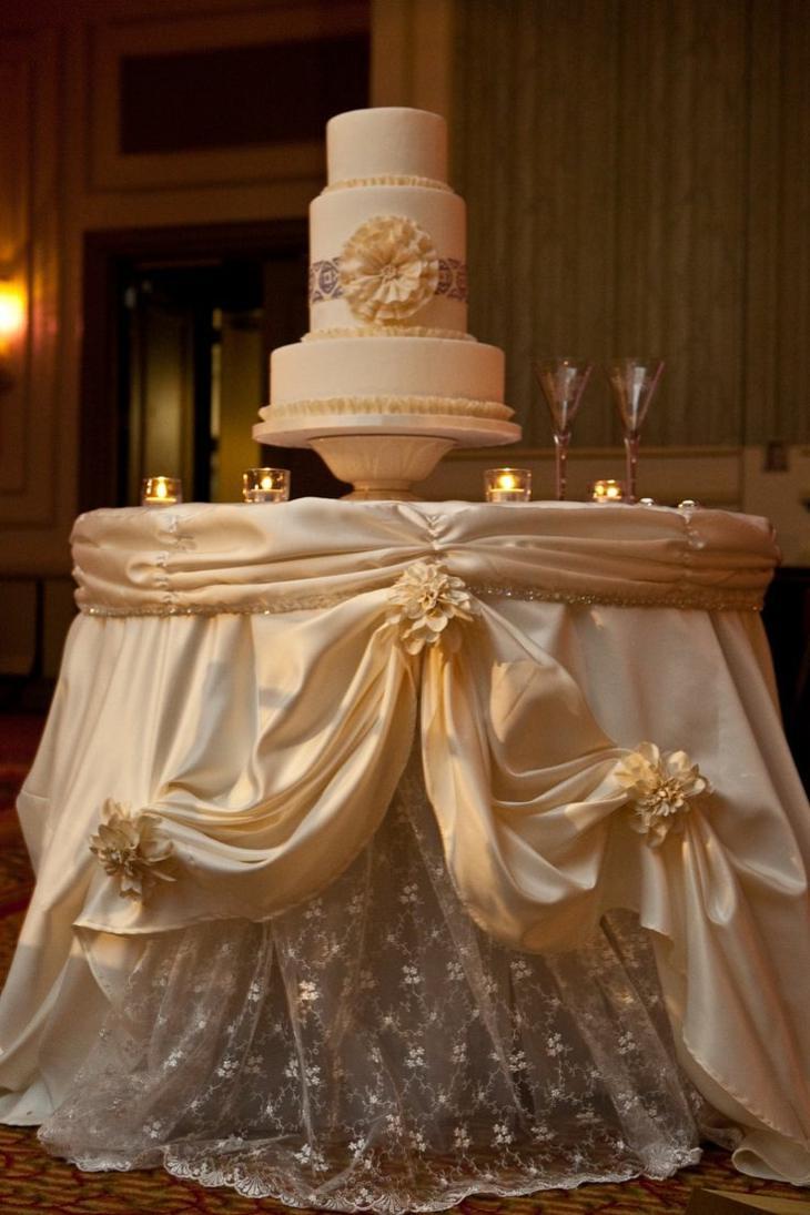 mesas de dulces para bodas telas costados copas