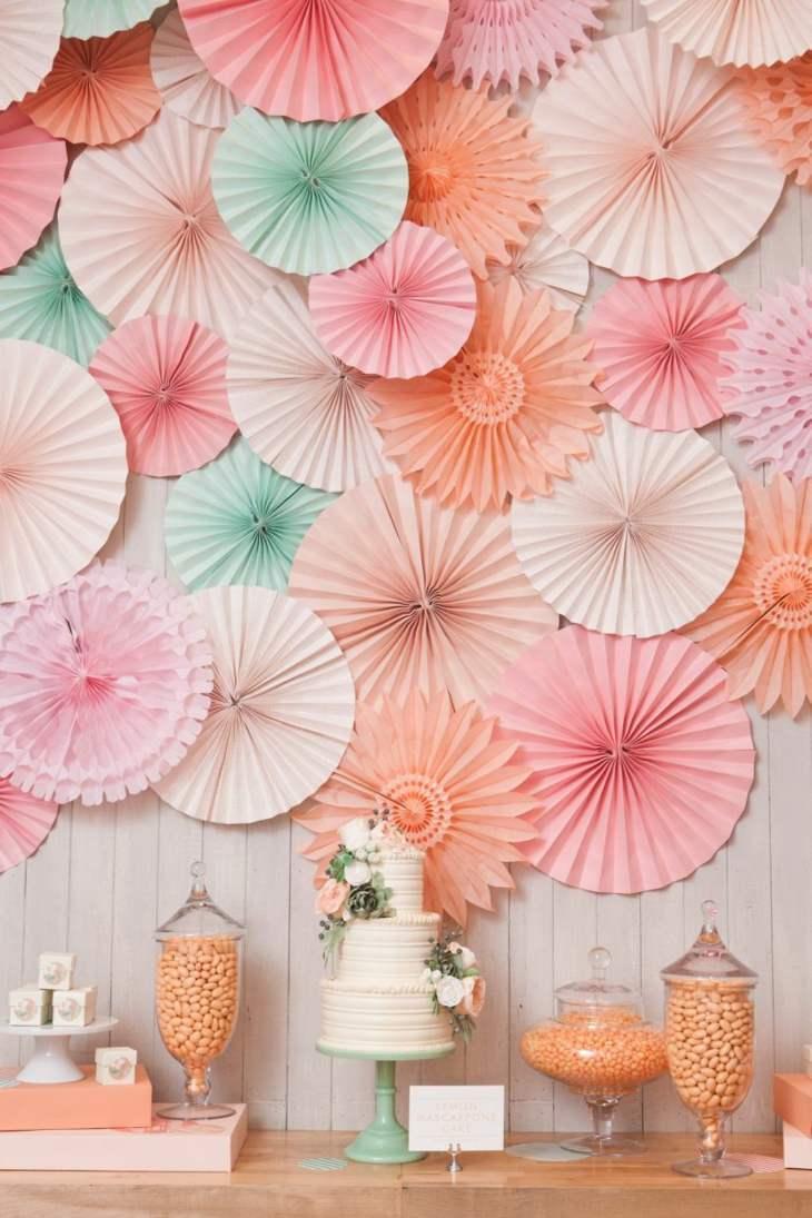 mesas de dulces para bodas telon fondo romantico diy