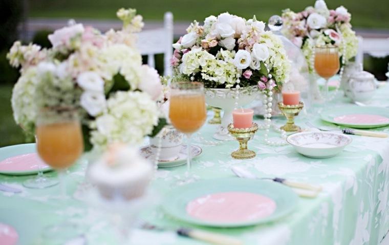 mesas dulces bodas diseno centro mesa flores blancas ideas