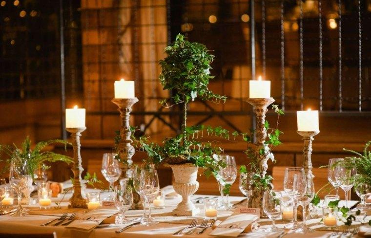 mesas dulces bodas diseno centro plantas ideas