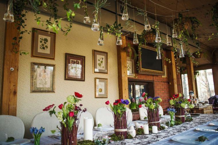 mesas dulces bodas diseno flores camino mesa ideas