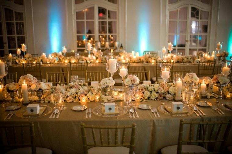 mesas dulces bodas diseno flores camino original ideas