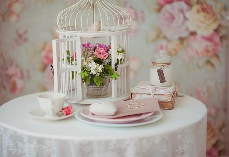 mesas dulces bodas diseno flores jaula blanca ideas