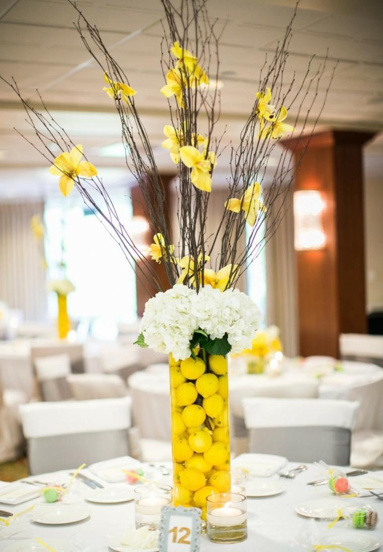 mesas dulces bodas diseno limones centro ideas