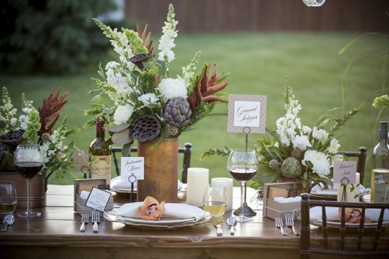 mesas dulces bodas diseno rustico exterior ideas