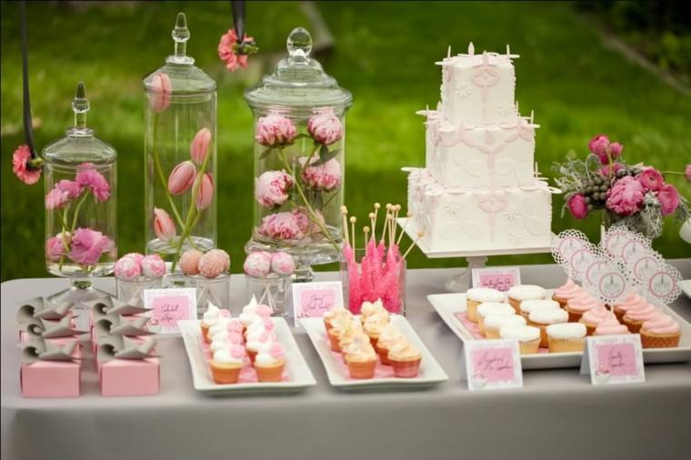 mesas dulces para bodas colores
