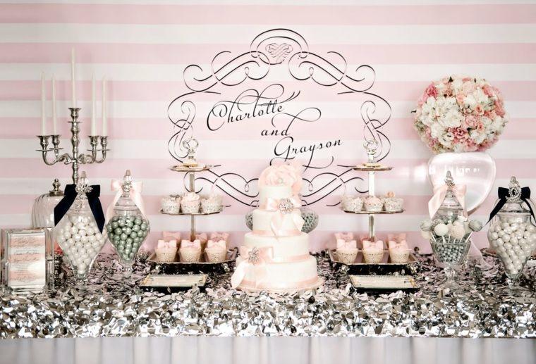 mesas dulces para bodas decoración interior