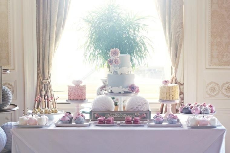 mesas dulces para bodas decorar interior