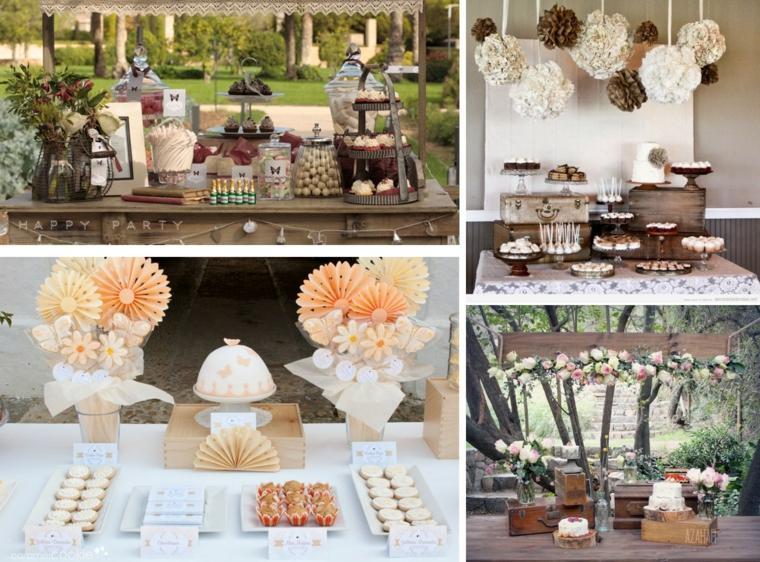 mesas dulces para bodas decorar