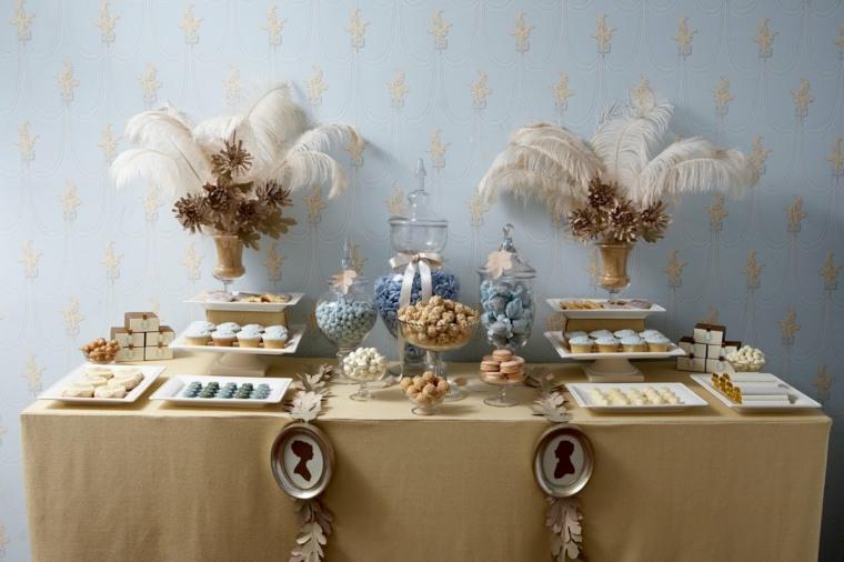 mesas dulces para bodas interiores