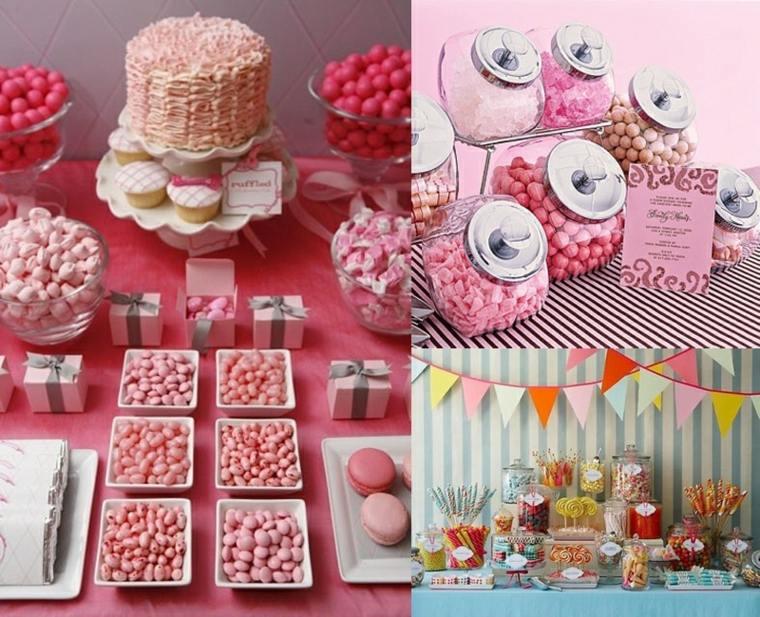 mesas dulces para bodas modernas