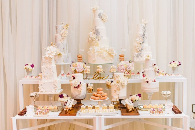 mesas dulces para bodas tartas
