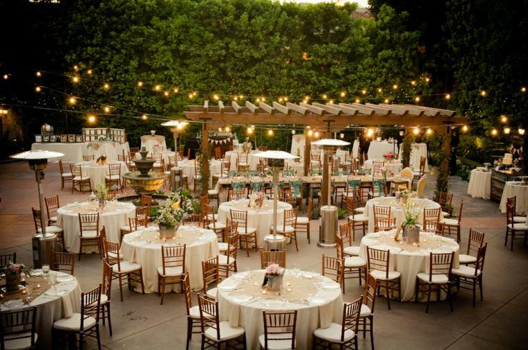 mesas de jardin boda campestre