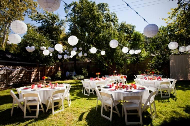 mesas jardín decoracion boda