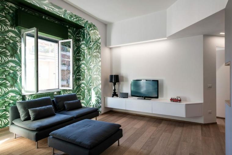 minimalista paredes especiales acabados madera
