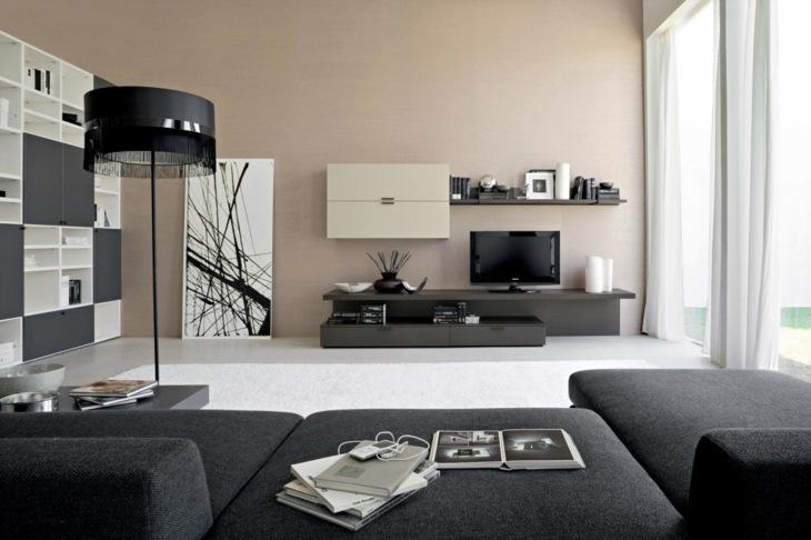 minimalistas colores moderna estancia salas