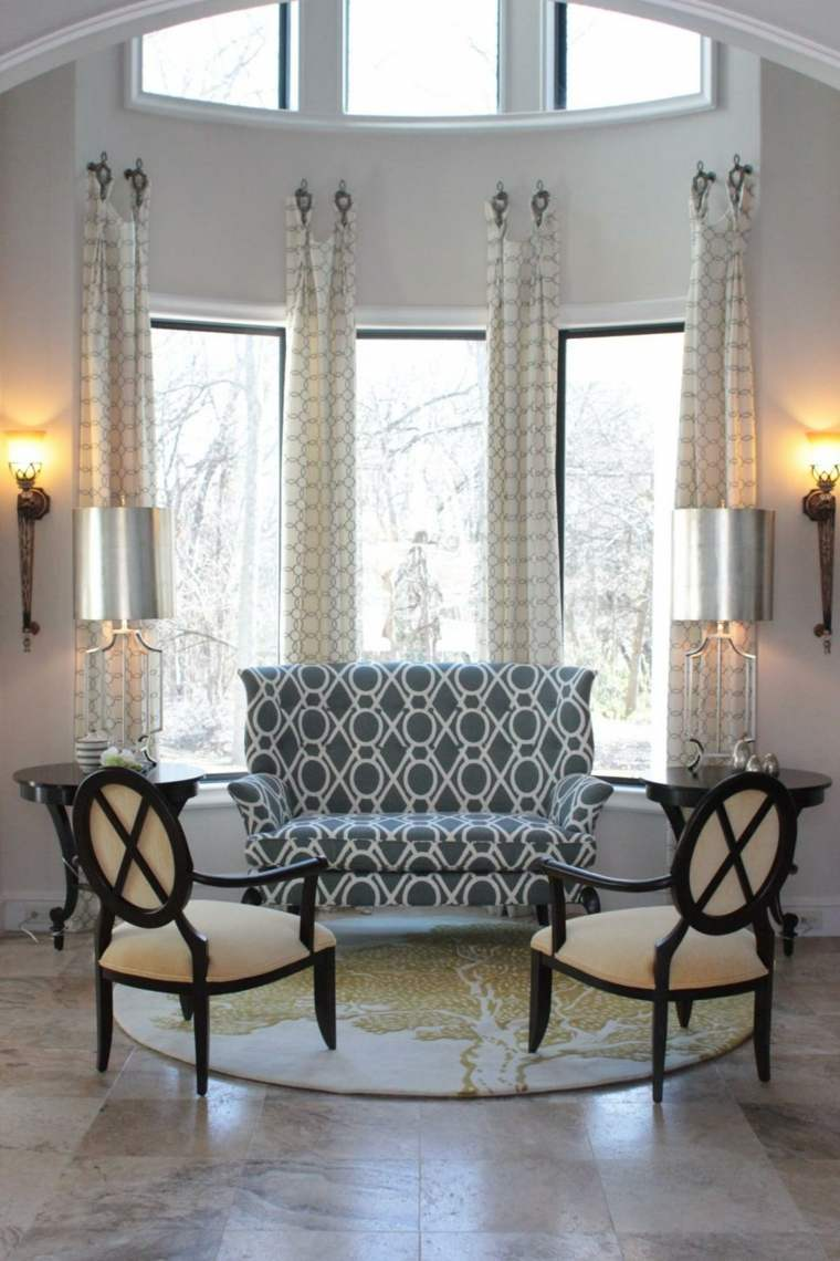 modelos metalicos plateados simetria cortinas
