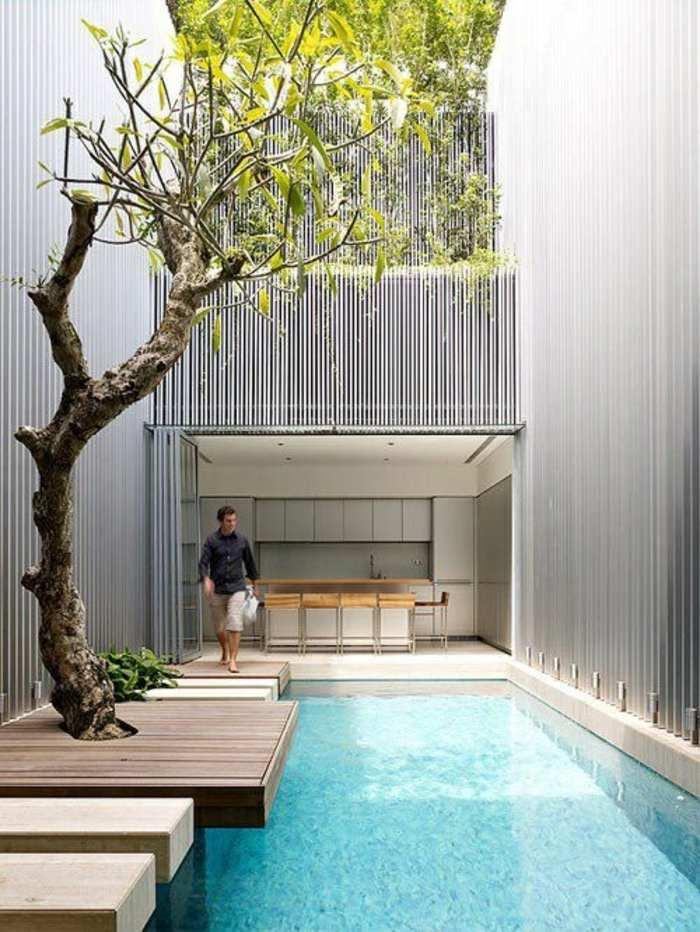 moderna piscina especial modelos arboles