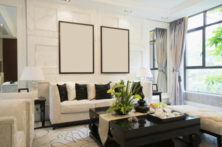moderno blanco especial muebles cortinas