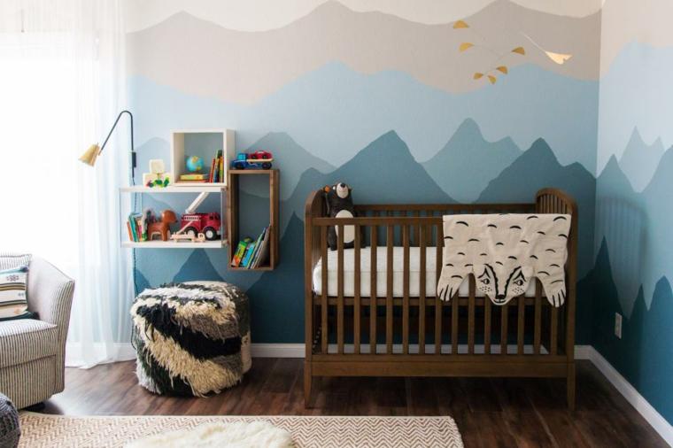 montanas paredes munecos muebles tapiz