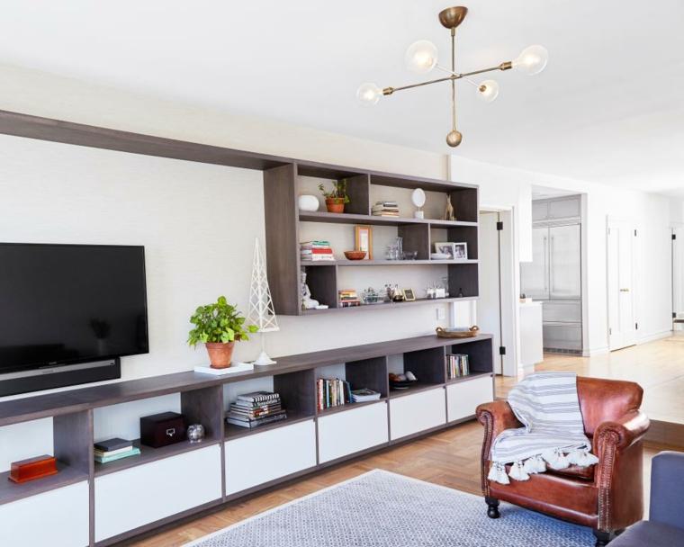 mueble alargado entretenimiento zona largo