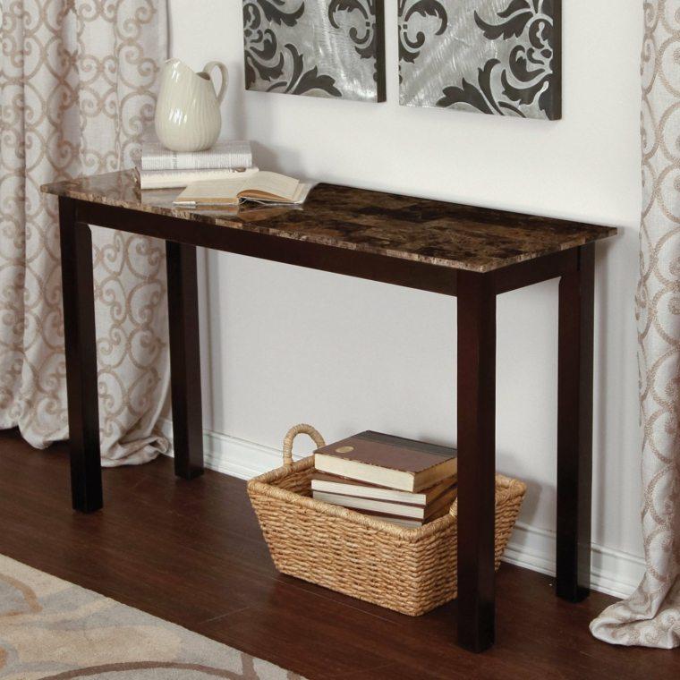 muebles para recibidor pequeño decorados