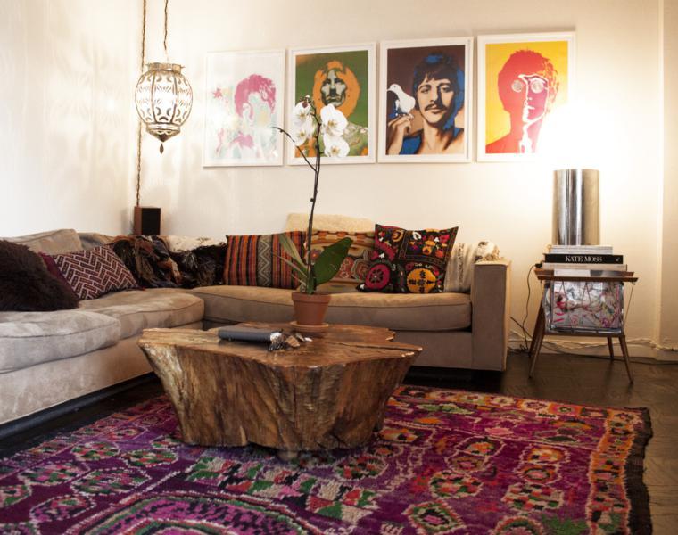 muebles estilo boho sala estar