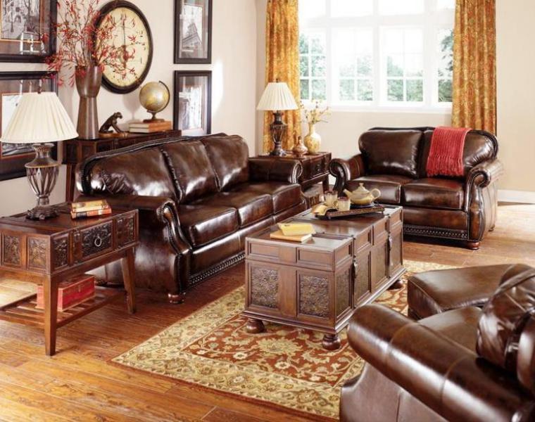 muebles clásicos vintage piel