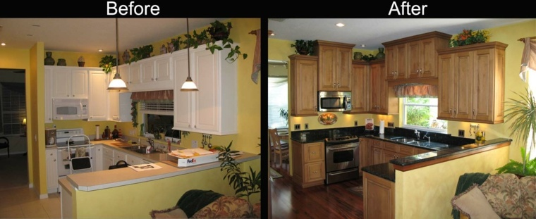 cheap kitchen makeover ideas before and after cocinas reformadas antes y despu 233 s gran cambio 27679