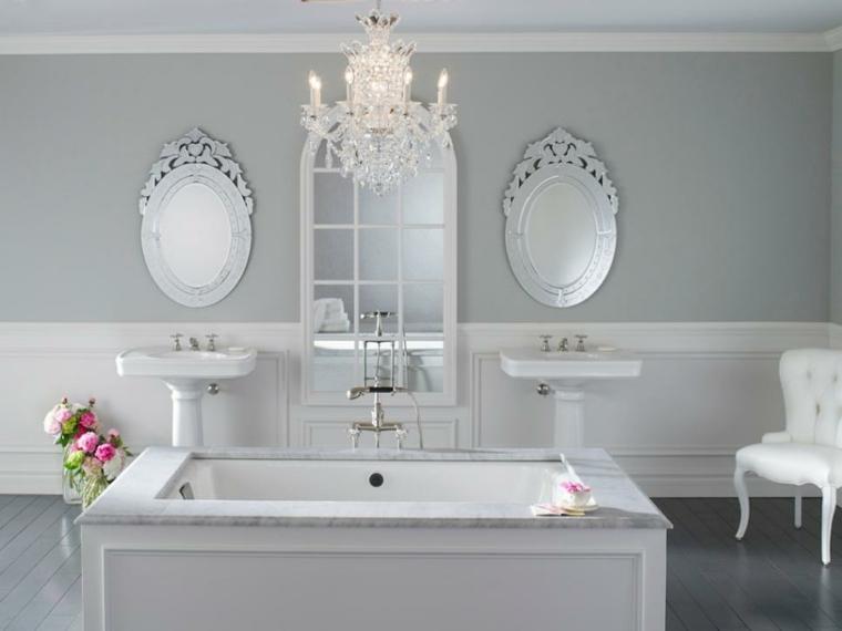Ba os antiguos y de dise o para una decoraci n elegante - Muebles antiguos para banos ...