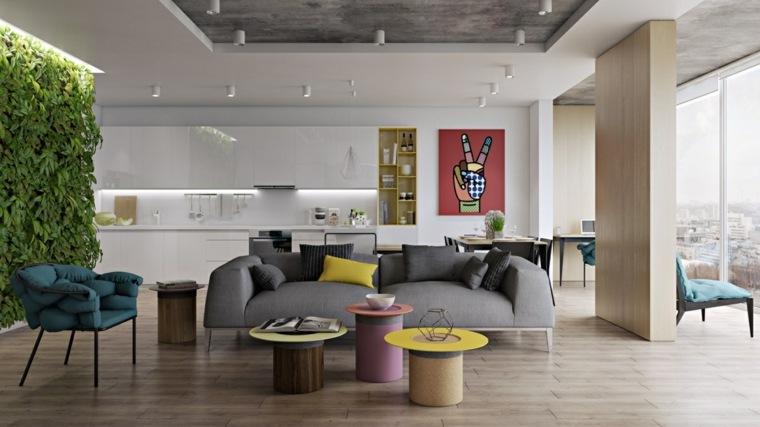 muebles de sala inspiracion retro mesas