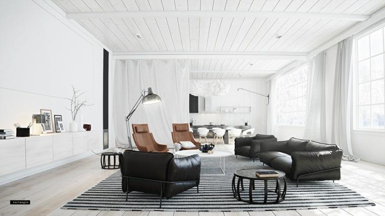 muebles de sala luminoso espacio cuero