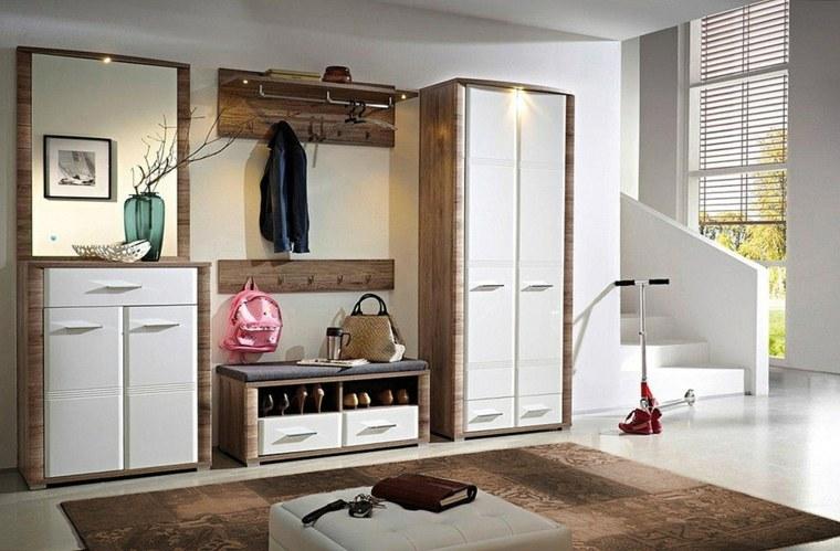 muebles entrada decoración interiores