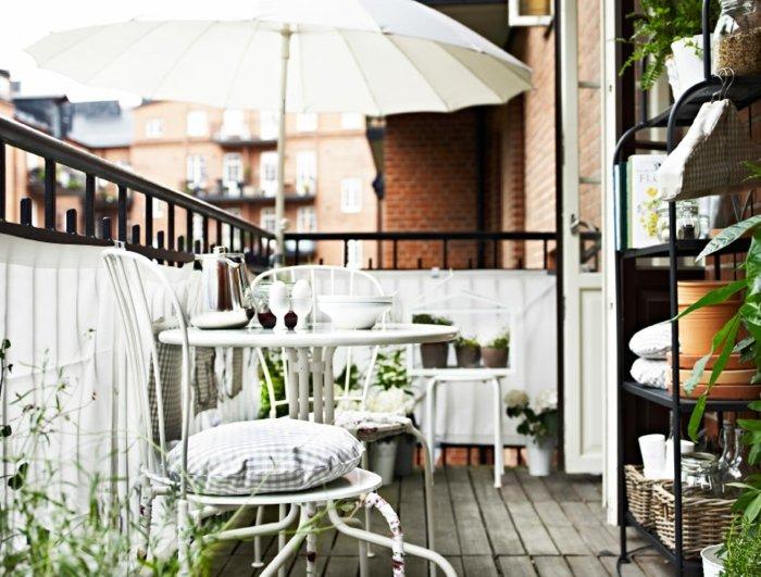 muebles forja blancos ideas macetas exteriores