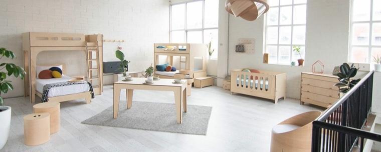 muebles de madera cuarto infantil