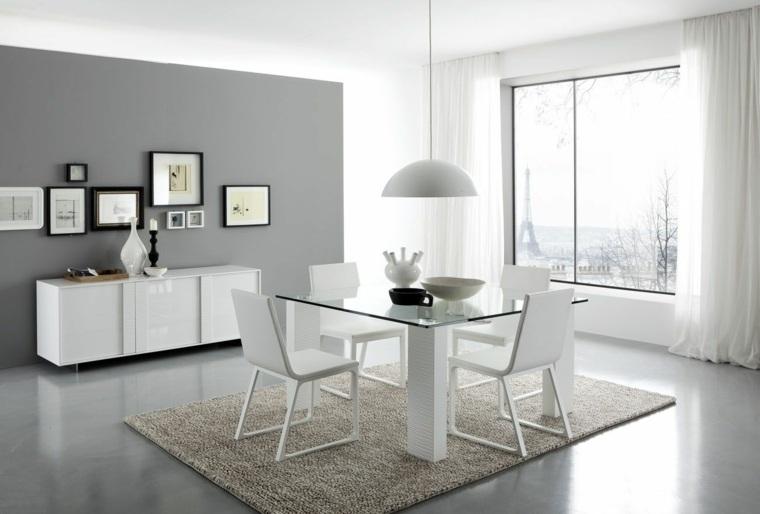 Comedor blanco de dise o moderno 24 fotos geniales for Disenos de muebles de comedor modernos
