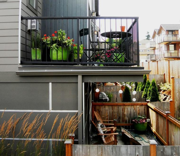 Balcones decoraci n para lugares estrechos y largos for Muebles para balcon pequeno