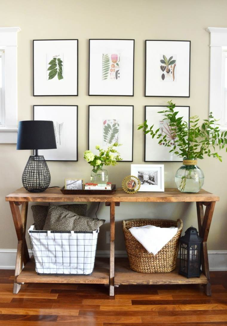 muebles para recibidor estrecho