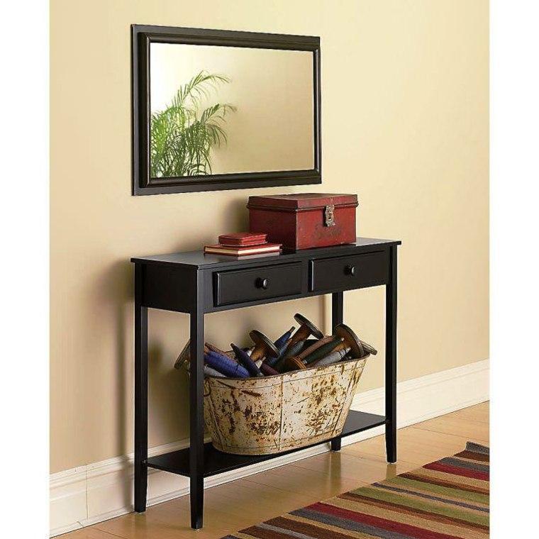 Recibidores estrechos decorados con mesas modernas - Muebles para recibidor ...
