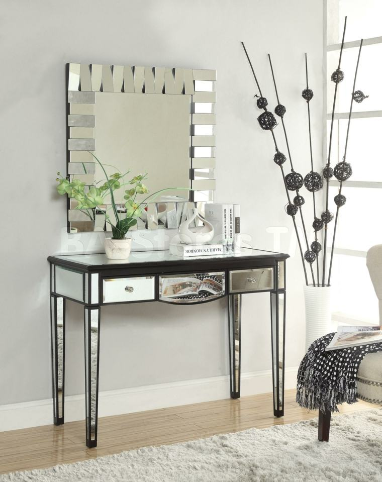 Recibidores estrechos decorados con mesas modernas - Muebles para recibidores ...