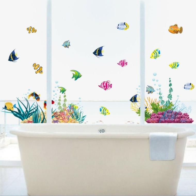 Ba os infantiles los dise os m s divertidos y funcionales for Pegatinas de peces