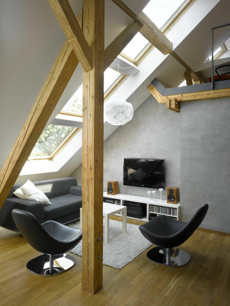 original diseño interior cemento madera