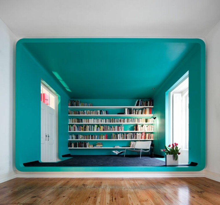 original sala biblioteca estudio