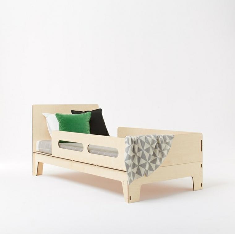 original cama diseño madera