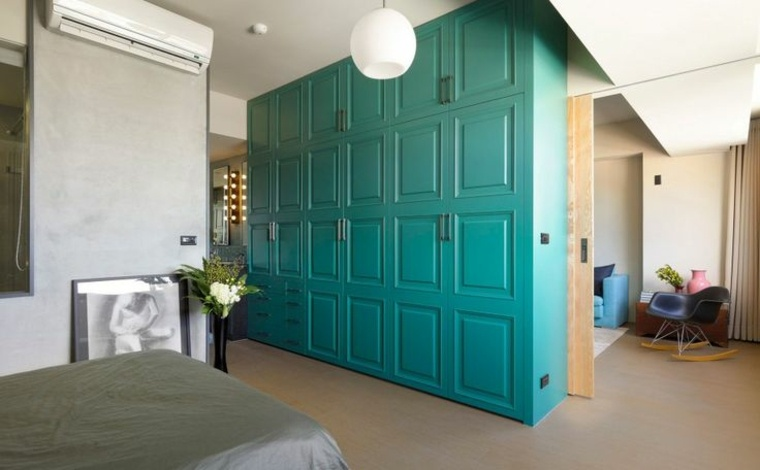 original diseño armario color agua
